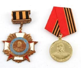 GROUP OF 2 RUSSIAN ZHUKOV MEDALS 100 ANNIVERSARY