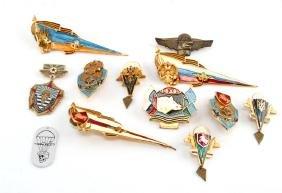 LOT OF 12 RUSSIAN USSR PARATROOPER BADGES