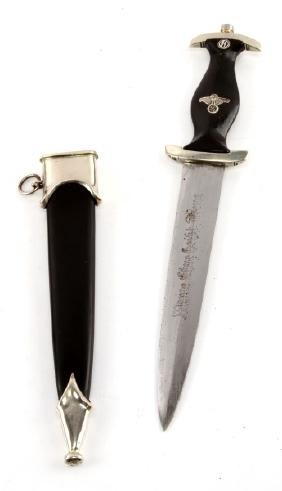 WWII GERMAN SS MINIATURE DAGGER WITH SCABBARD
