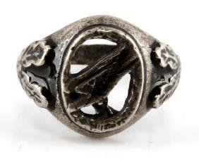 GERMAN WWII NAZI LUFTWAFFE PARATROOPER SILVER RING