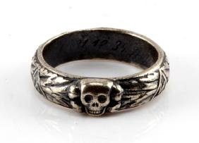 GERMAN WWII NAZI SS HONOR RING SILVER