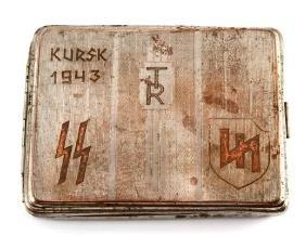 GERMAN WAFFEN SS DIVISION DAS REICH CIGARETTE CASE