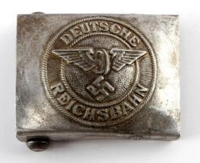 GERMAN WWII NAZI DEUTCHE REICHSBAHN BELT BUCKLE
