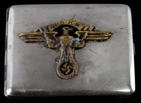 GERMAN WWII THIRD REICH NSKK CIGARETTE CASE
