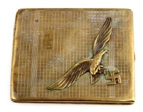 WWII GERMAN THIRD REICH LUFTWAFFE CIGARETTE CASE