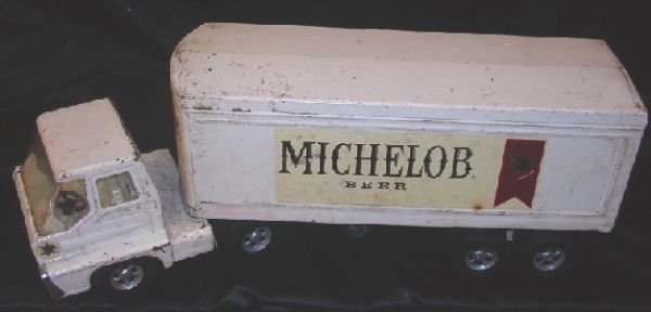 10: 1960'S-70'S STEEL TURBINE SEMI & MICHELOB TRAILER