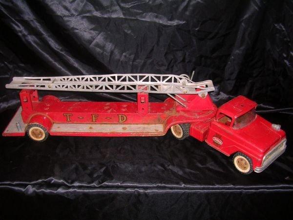 4: 1963 TONKA AERIAL T.F.D. LADDER STEEL FIRE TRUCK