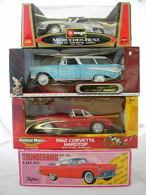 24: AMERICAN TOY MUSCLE CAR THUNDERBIRD CORVETTE CHEVY