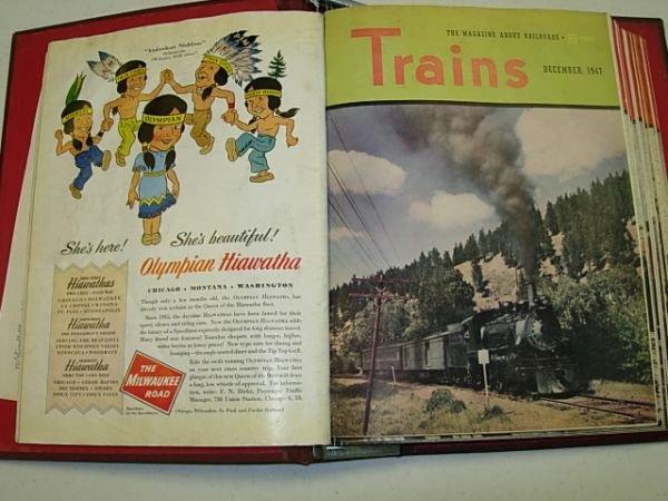 14: TRAINS MAGAZINE NOV 1947 - OCT 1948 12 ISSUES