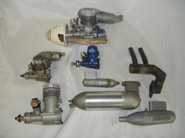 LOT RC GAS AIRPLANE ENGINES MUFFLERS MAGNUM OS MAX K&B