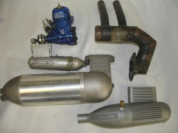 LOT RC GAS AIRPLANE ENGINES MUFFLERS MAGNUM OS MAX K&B - 2
