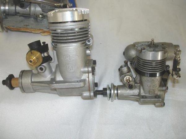 LOT RC GAS AIRPLANE ENGINES MUFFLERS MAGNUM OS MAX K&B - 3