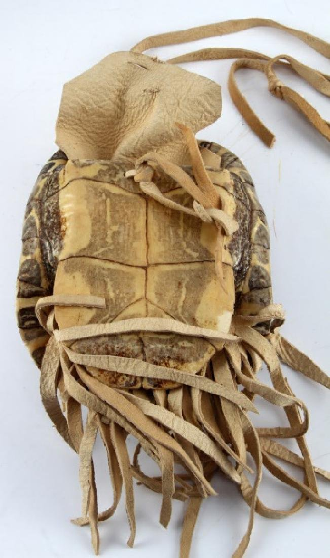 NATIVE AMERICAN FRESH WATER TURLE MEDICINE POUCH - 3
