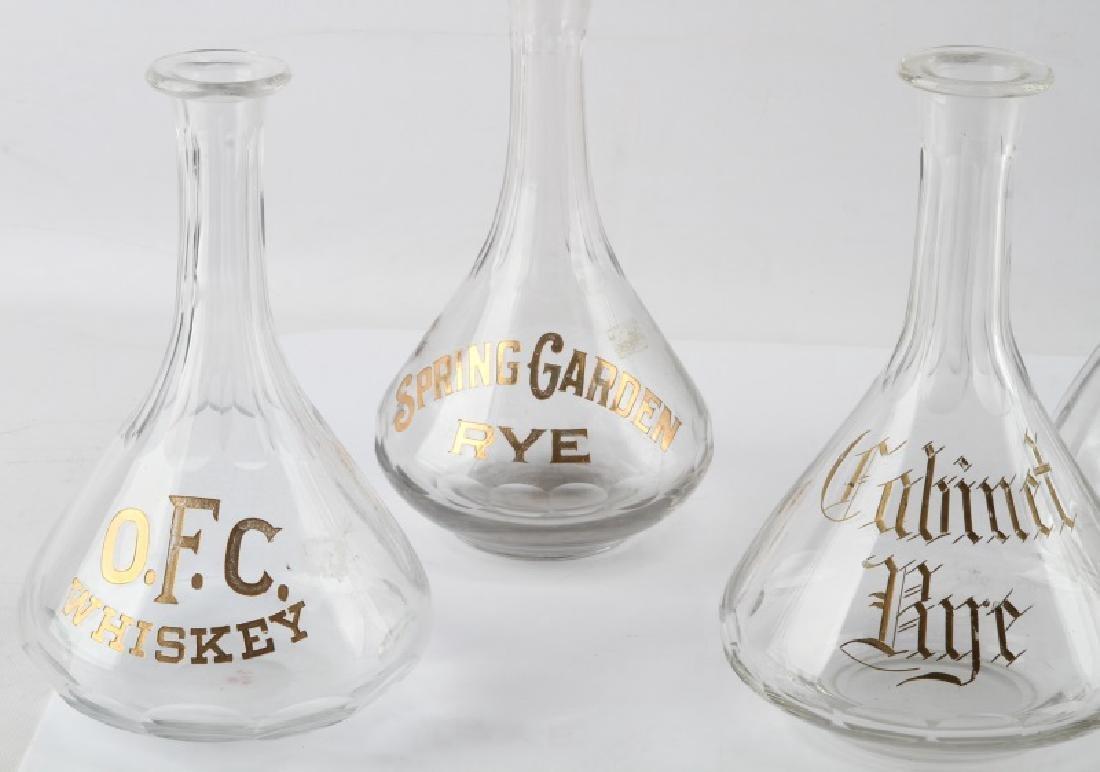 1890S SALOON BACK LIQUOR BOTTLES WHISKEY & RYE - 2