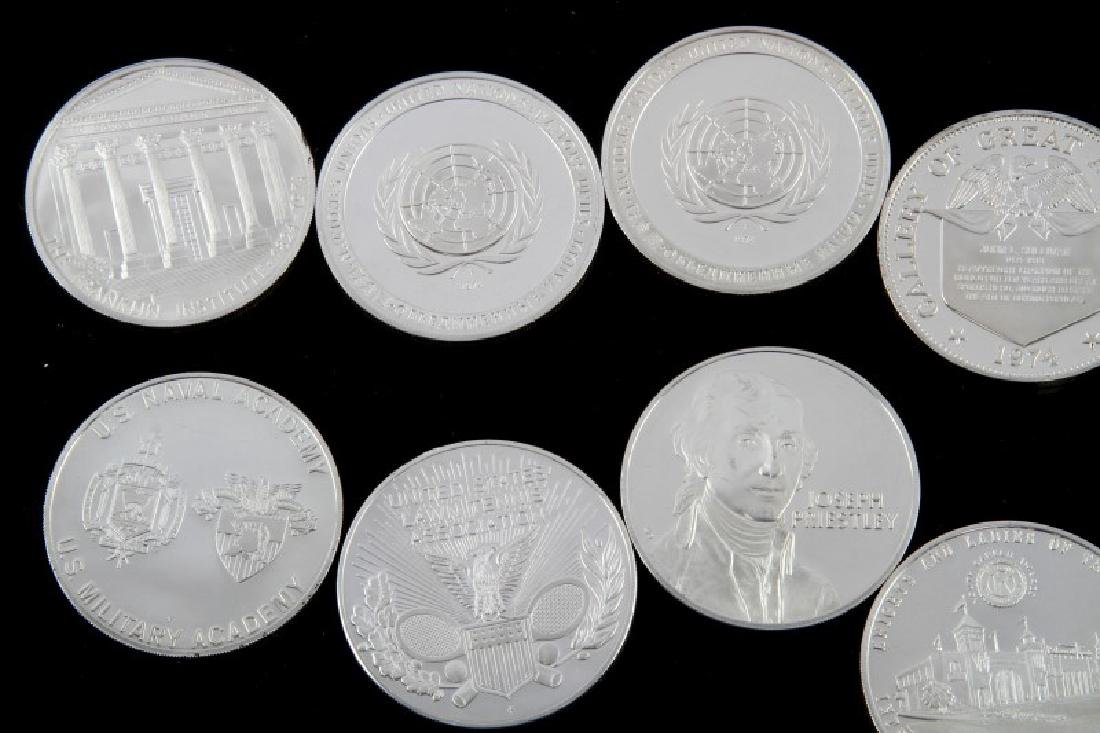 TEN STERLING SILVER PROOF ROUNDS VARIOUS THEMES - 4