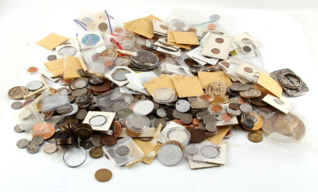 8.2 POUNDS OF WORLD COINS TOKENS & NUMISMATICA - 6