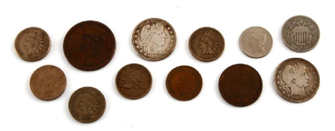 U.S. COIN COLLECTION LARGE INDIAN SHIELD BARBER