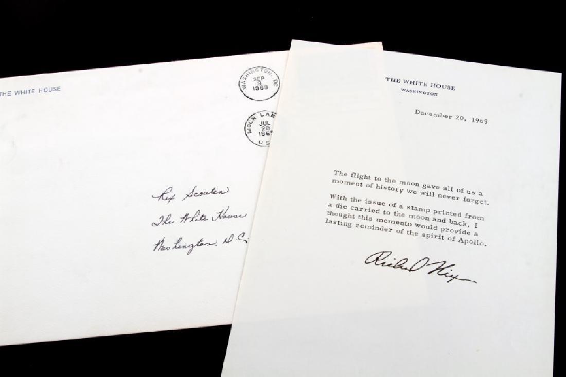1969 APOLLO II SIGNED PRESIDENTIAL EPHEMERA LOT - 4