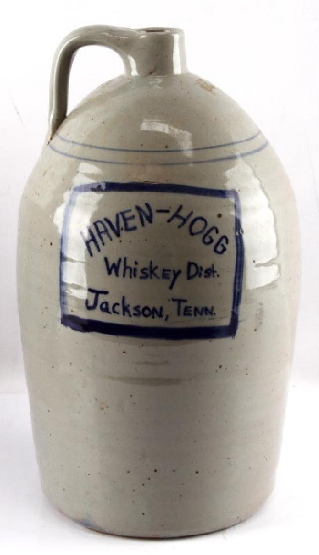 ANTIQUE JACKSON TENNESEE WHISKEY JUG HAVEN HOGG