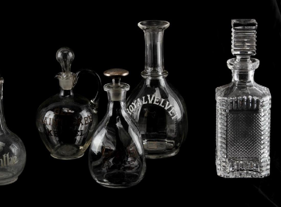 LATE 19TH CENTURY SALOON BACK BOTTLES AND DECANTER - 3