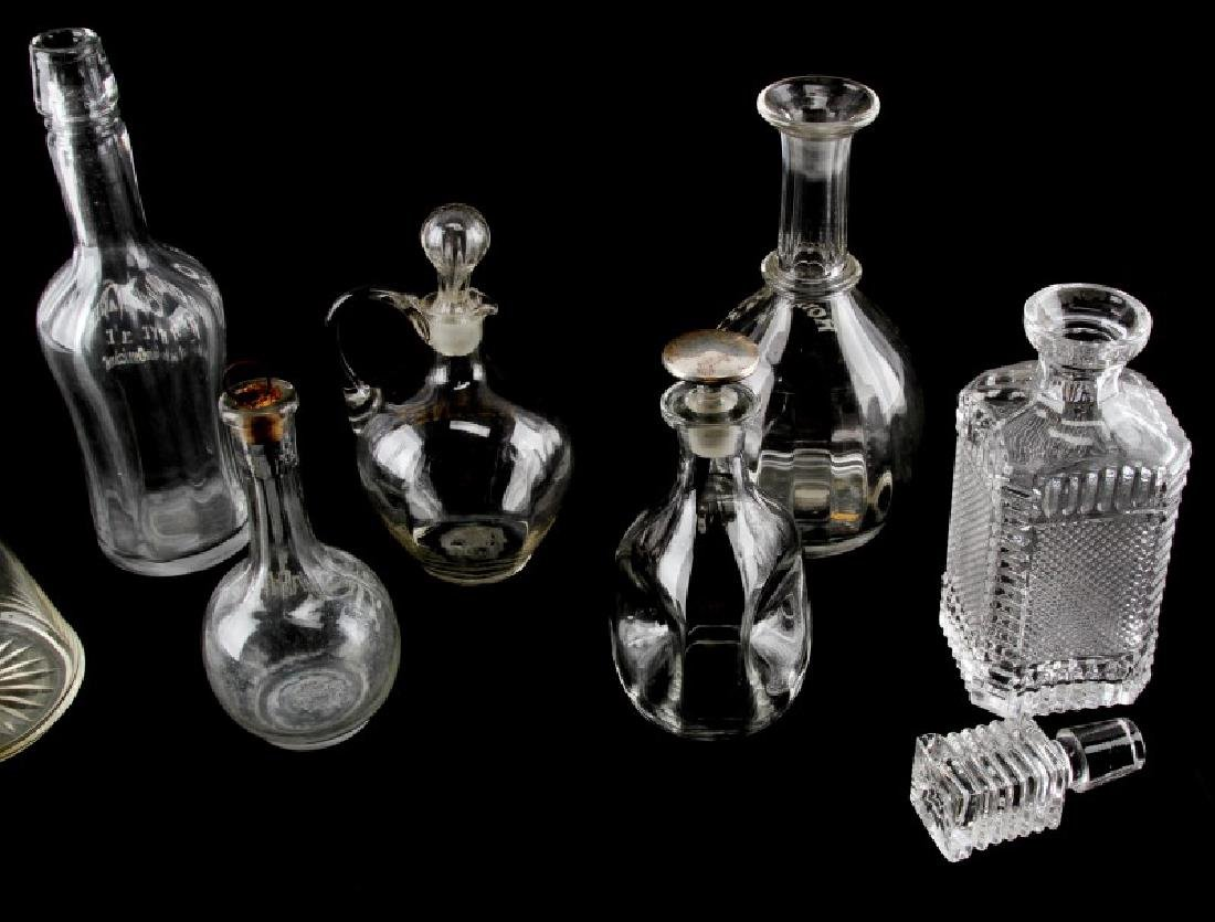LATE 19TH CENTURY SALOON BACK BOTTLES AND DECANTER - 4