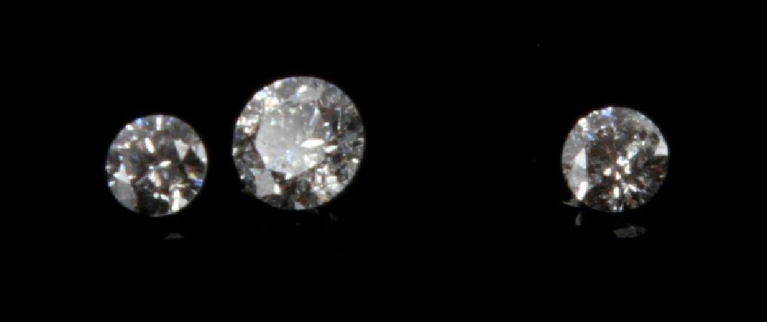 DIAMOND GROUP 3 ROUND CUT LOOSE STONES 1.35 TCW
