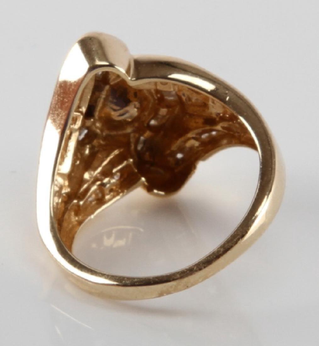 ADIES 14K YELLOW GOLD AND DIAMOND RING