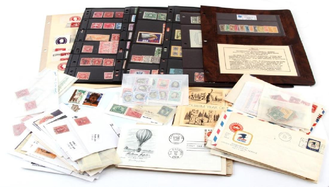 LOT OF USA STAMPS - BACK OF BOOK, AIR MAIL, CUT