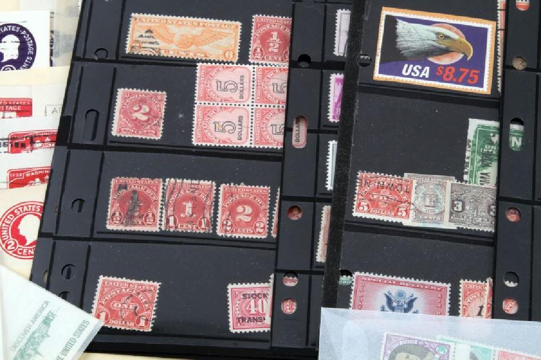 LOT OF USA STAMPS - BACK OF BOOK, AIR MAIL, CUT - 2