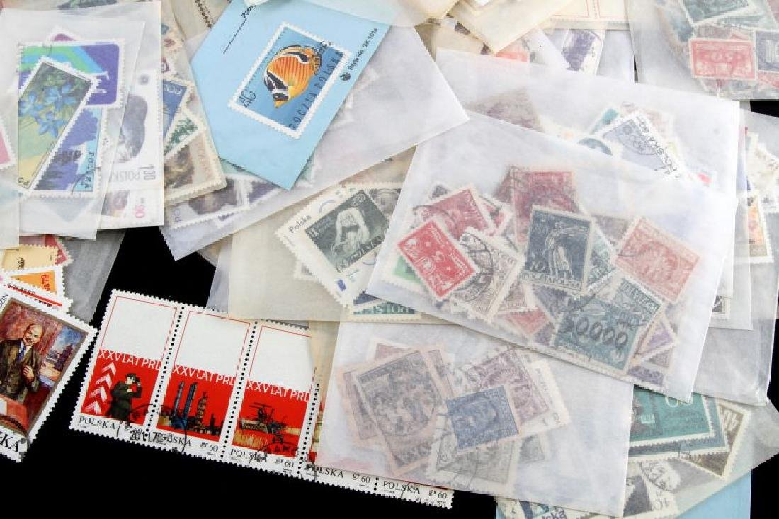 LOT OF STAMPS - POLAND OLYMPIC ART MILITARY FLOWER