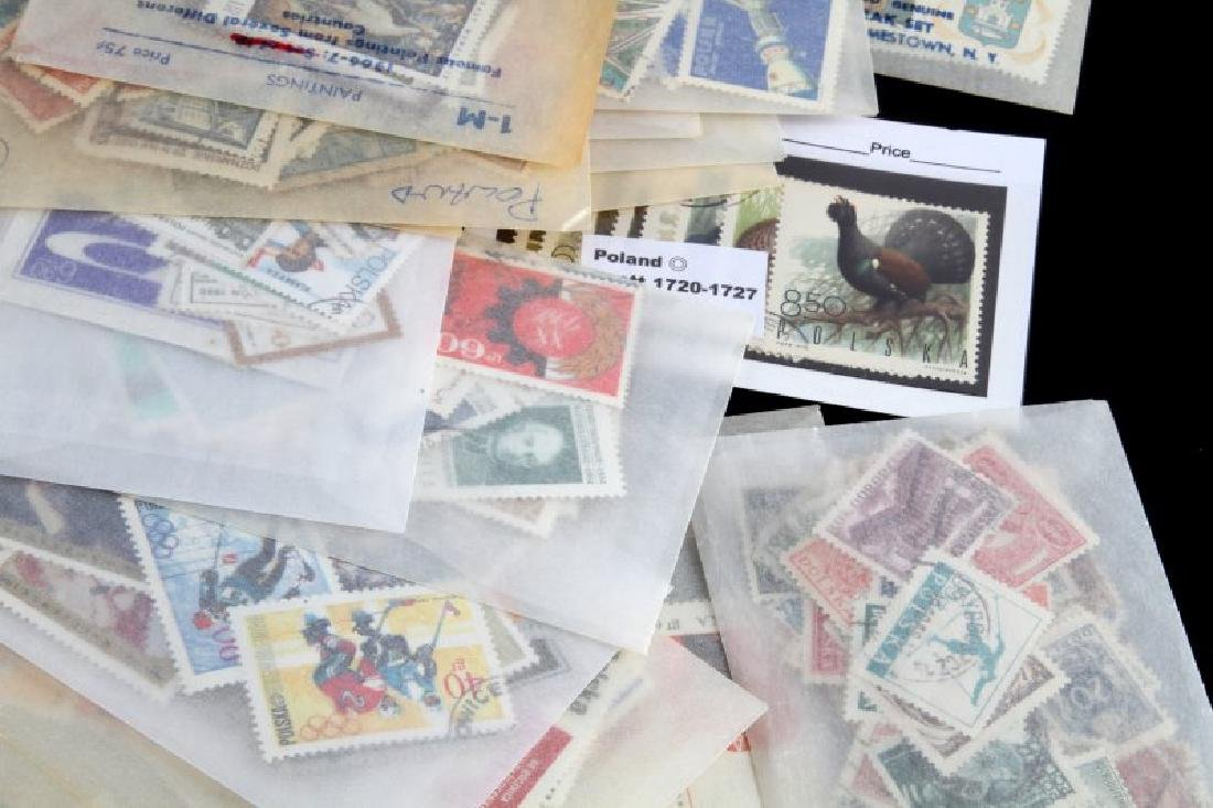 LOT OF STAMPS - POLAND OLYMPIC ART MILITARY FLOWER - 2
