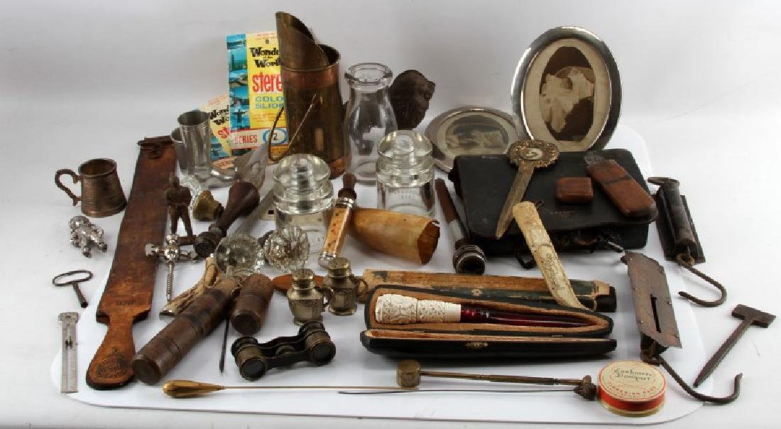 LOT OF GENERAL ANTIQUES AND COLLECTABLES - 2