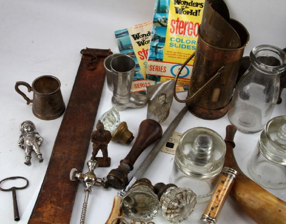 LOT OF GENERAL ANTIQUES AND COLLECTABLES - 4