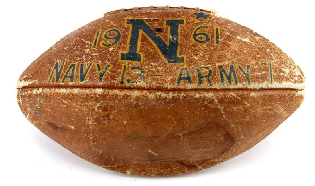 1961 ARMY NAVY GAME AUTOGRAPH SPALDING FOOTBALL