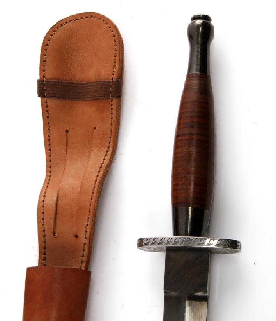 FS BRITISH COMMANDO DAMASCUS STEEL FIGHTING KNIFE - 4