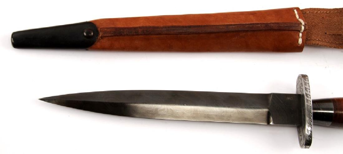 FS BRITISH COMMANDO DAMASCUS STEEL FIGHTING KNIFE - 6