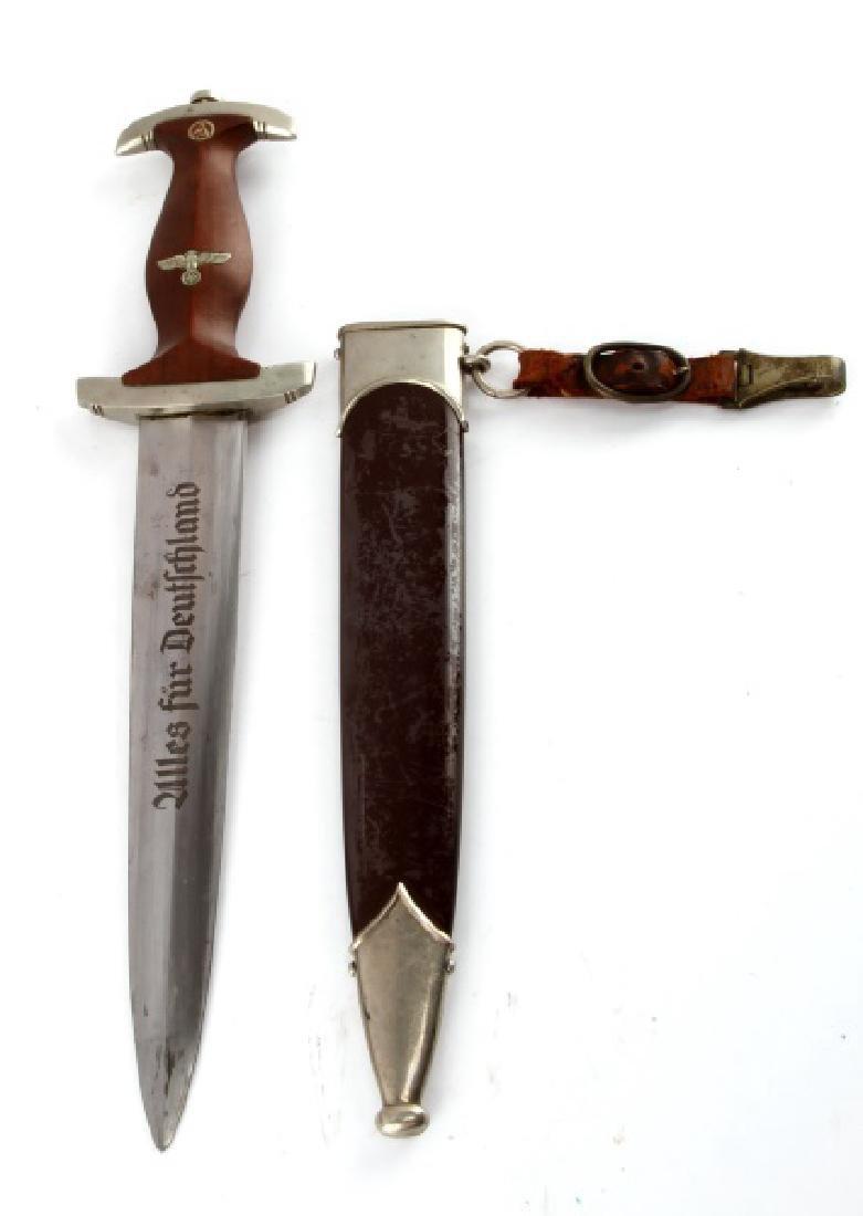 WWII THIRD REICH GERMAN SPITZER SA DAGGER W HANGER - 3