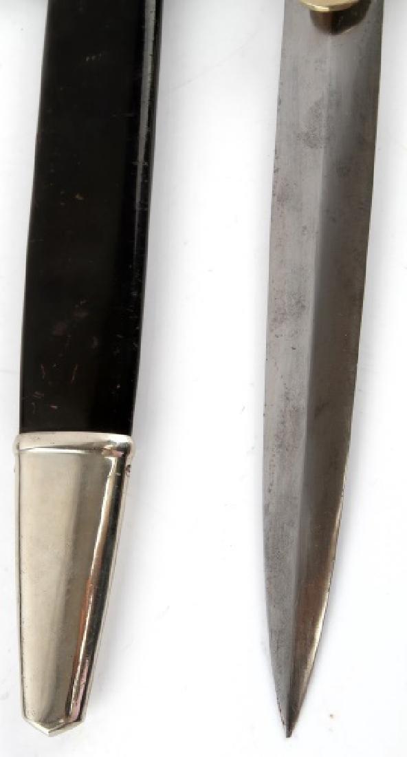 WWII GERMAN AIR RAID RLB POLICE 2ND MODEL DAGGER - 4