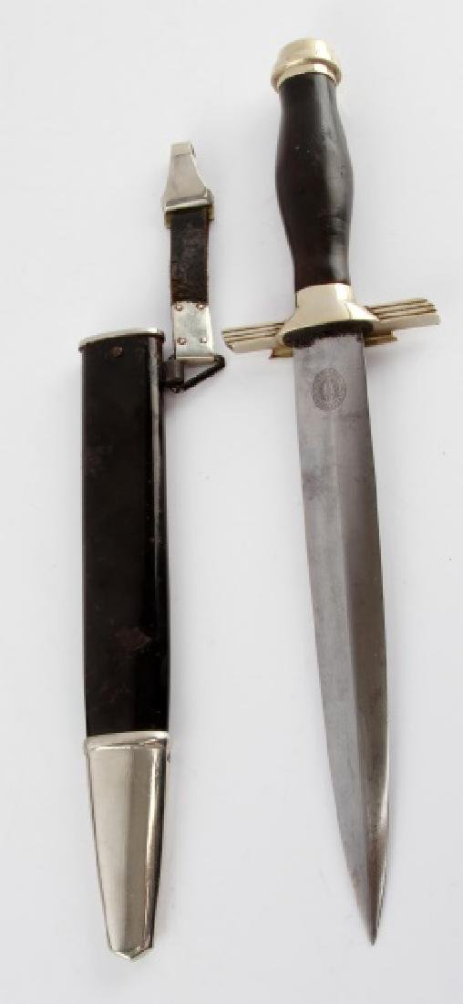 WWII GERMAN AIR RAID RLB POLICE 2ND MODEL DAGGER - 8