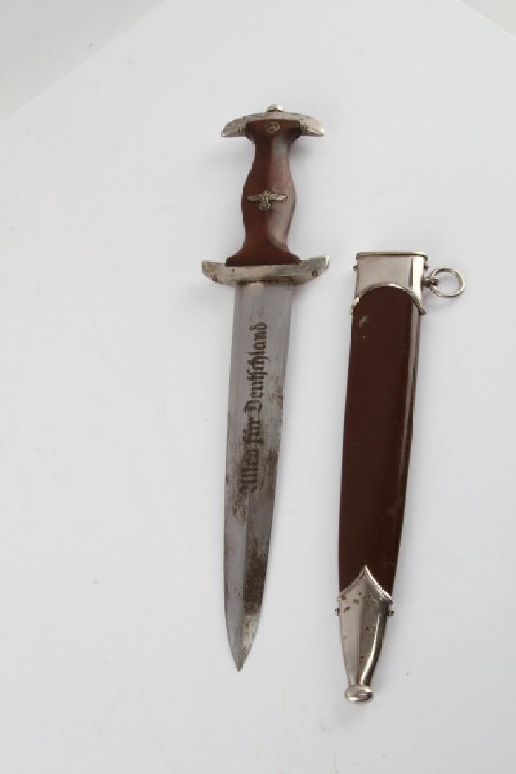 WWII THIRD REICH GERMAN SA DAGGER RZM M7 81 38 - 3