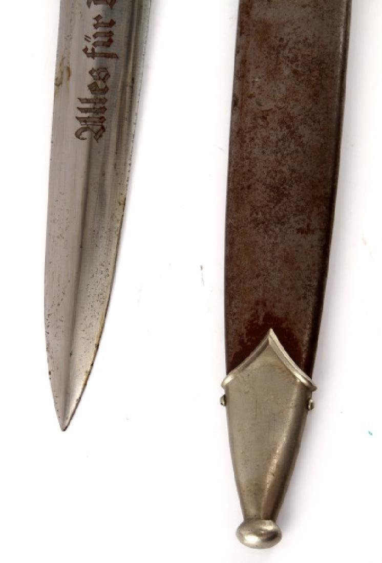 WWII GERMAN EARLY GROUND ROHM SA DAGGER W HANGER - 5