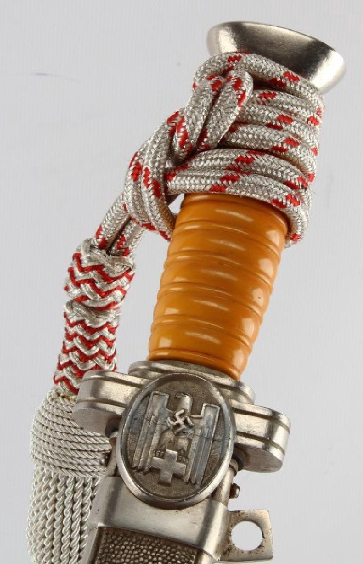 WWII THIRD REICH GERMAN RED CROSS DAGGER WITH KNOT