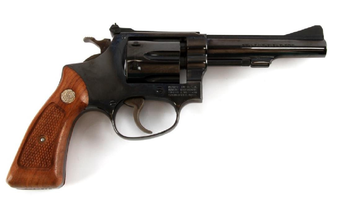 SMITH AND WESSON MODEL 34-1 BLUE .22 LR REVOLVER