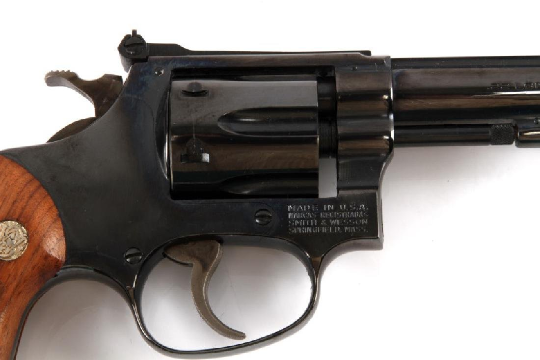 SMITH AND WESSON MODEL 34-1 BLUE .22 LR REVOLVER - 2