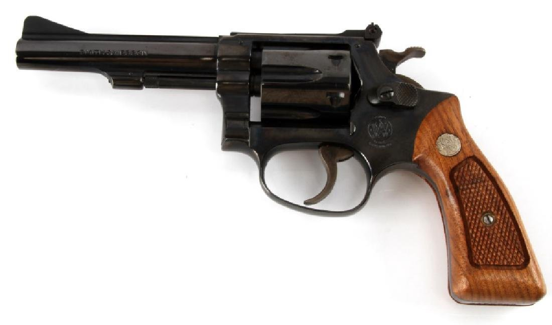 SMITH AND WESSON MODEL 34-1 BLUE .22 LR REVOLVER - 3