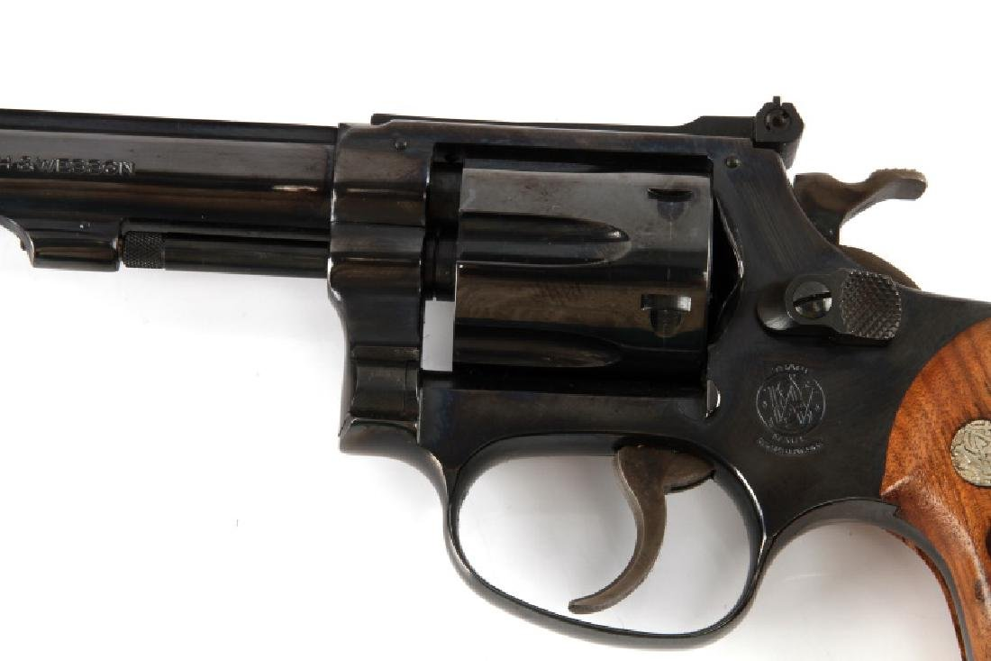 SMITH AND WESSON MODEL 34-1 BLUE .22 LR REVOLVER - 4