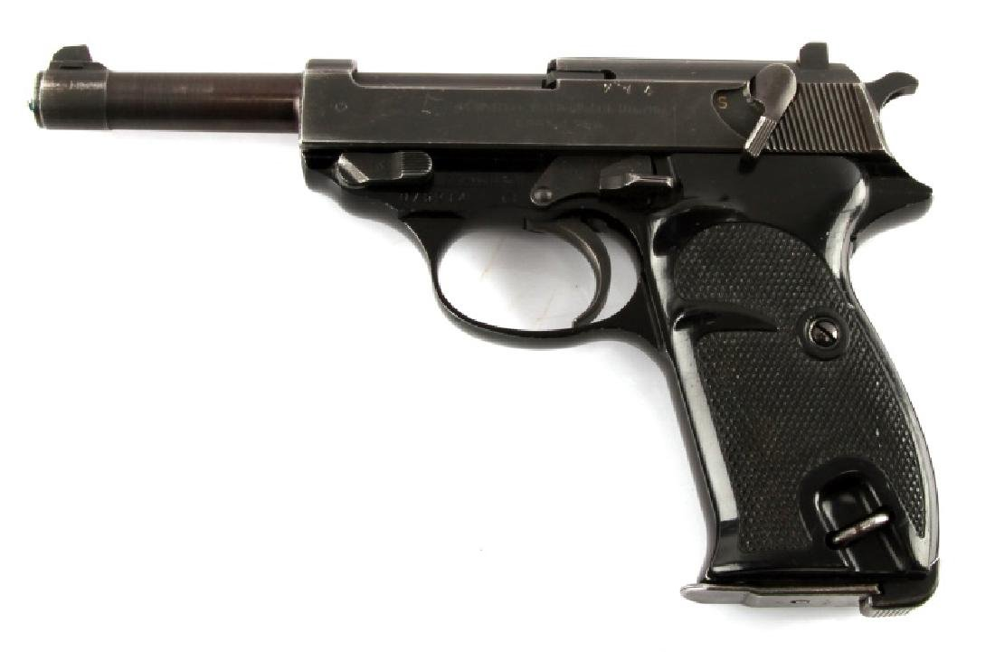 POST WAR GERMAN WALTHER P38 SEMI AUTO PISTOL 9MM - 3