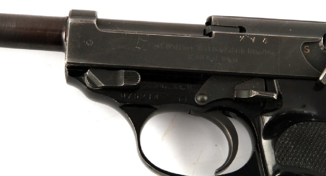 POST WAR GERMAN WALTHER P38 SEMI AUTO PISTOL 9MM - 4