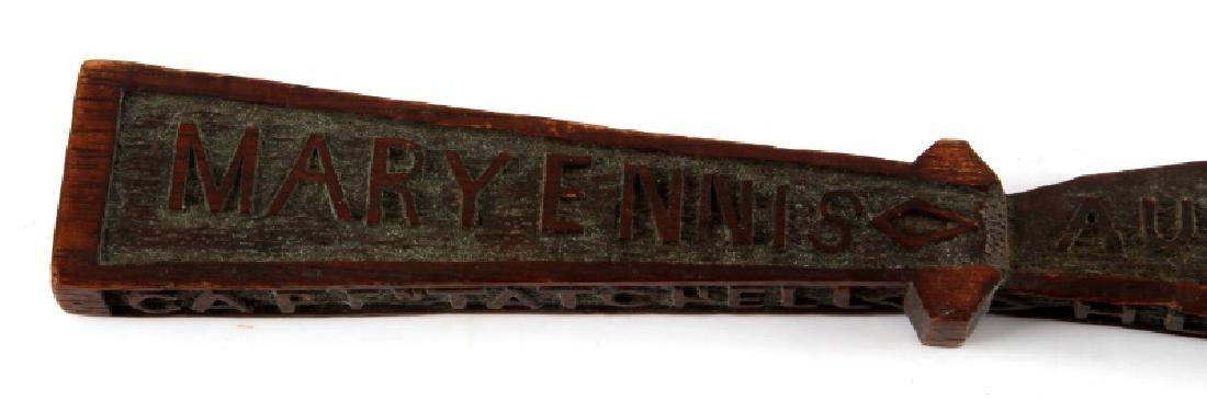 CARVED WOODEN SAILORS SOUVENIR 19TH CENTURY - 3