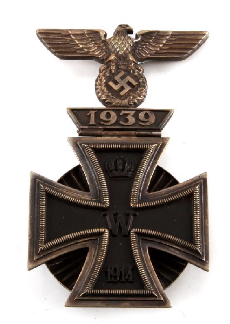 GERMAN IRON CROSS MEDAL 1914 + HINGED REICHSADLER